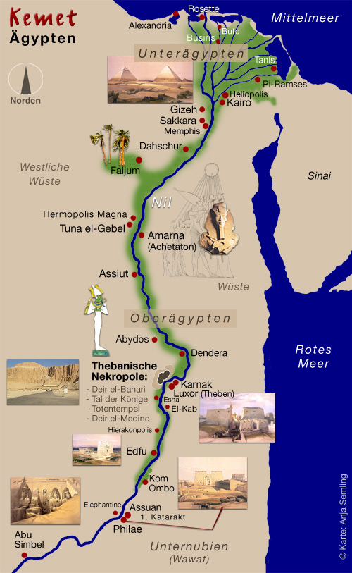Mein Altagypten Kemet Landkarte